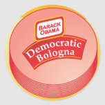 Democratic Bologna - Barack Obama Classic Round Sticker