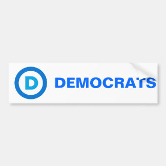 Democratic Car Bumper Sticker