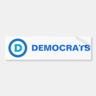 Democratic Etiqueta De Parachoque