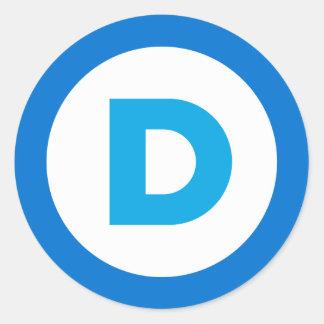 Democratic Classic Round Sticker