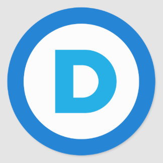 Democratic Classic Round Sticker