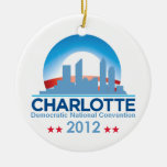 Democratic Convention Double-Sided Ceramic Round Christmas Ornament