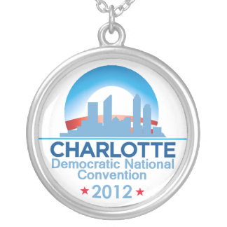 Democratic Convention Silver Plated Necklace