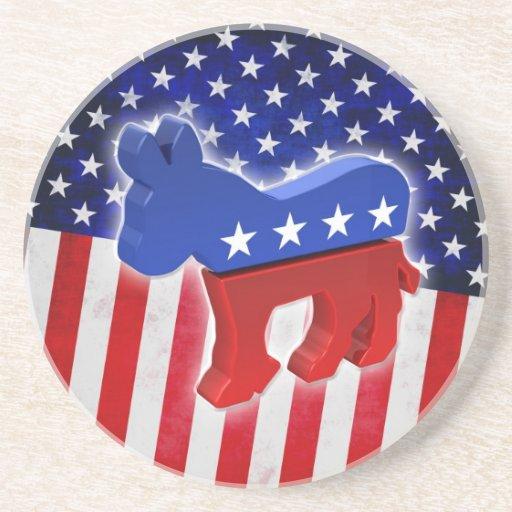 Democratic Donkey Beverage Coaster