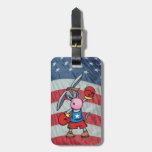 democratic donkey boxing tag for bags