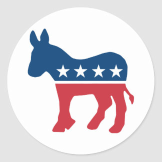 Democratic Donkey Classic Round Sticker