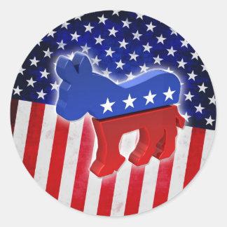 Democratic Donkey Classic Round Sticker