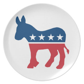 Democratic Donkey Dinner Plate