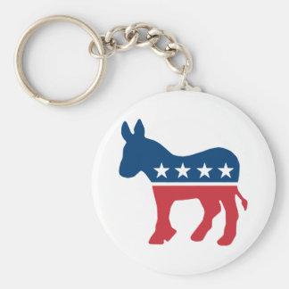 Democratic Donkey Keychain