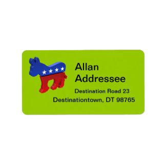 Democratic Donkey Label