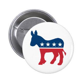 Democratic Donkey Pinback Button