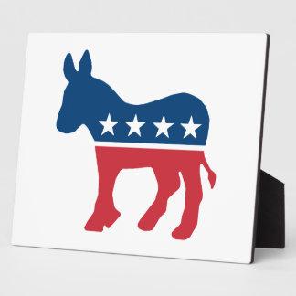 Democratic Donkey Photo Plaques