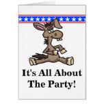 Democratic Donkey Political Birthday Card