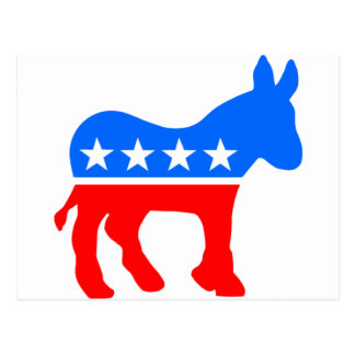 Democratic Donkey Postcard