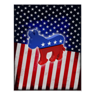 Democratic Donkey Poster
