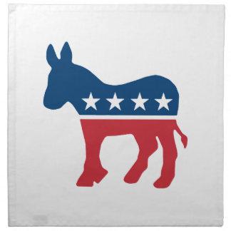 Democratic Donkey Printed Napkins