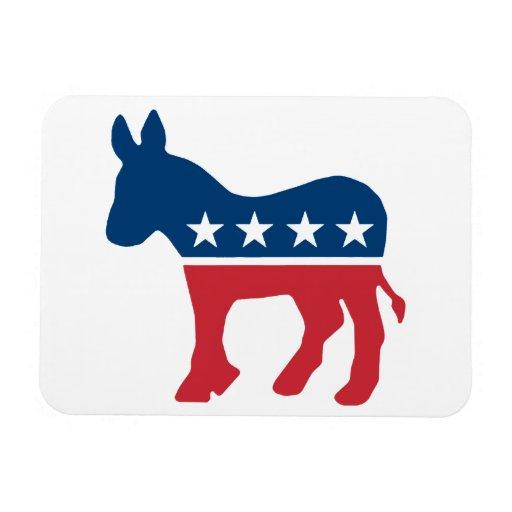 Democratic Donkey Rectangular Photo Magnet