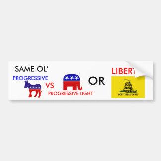 Democratic-donkey, Republican_elephant, DONT TR... Car Bumper Sticker