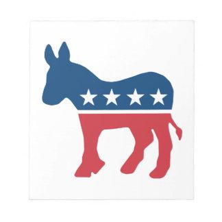 Democratic Donkey Scratch Pad