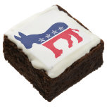 Democratic Donkey with Stars Square Brownie