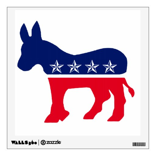 Democratic Donkey with Stars Template Room Decal