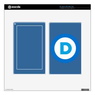 Democratic Kindle Fire Skin