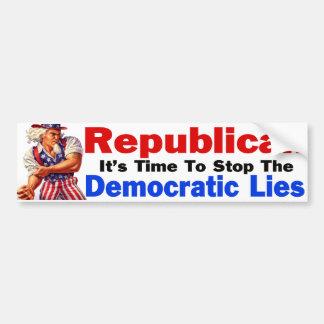 Democratic Lies Bumper Stickers