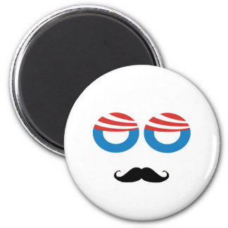 Democratic Man - Mustache You A Question 2 Inch Round Magnet
