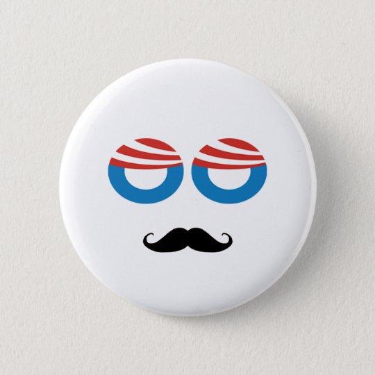 Democratic Man - Mustache You A Question Button