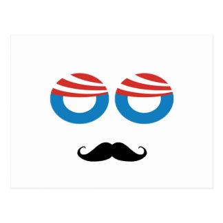 Democratic Man - Mustache You A Question Post Card