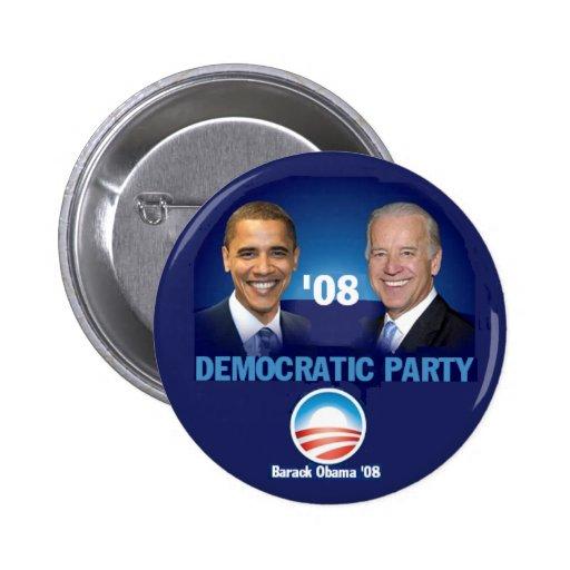 Democratic Party Button