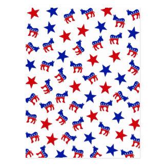 Democratic Party Collage Postcard