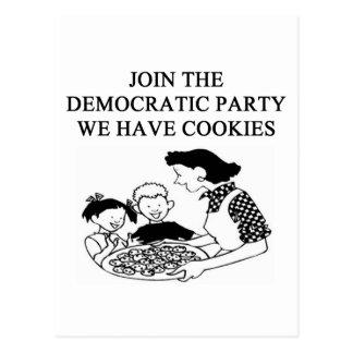 democratic party design postcard