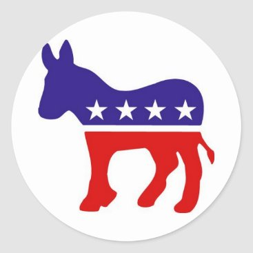 democraticparty Democratic Party Donkey Round Stickers