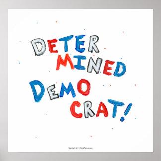 Democratic party fun patriotic democrat voters poster