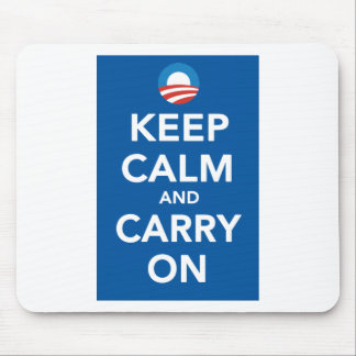Democratic Party Keep Calm Poster Mousemat