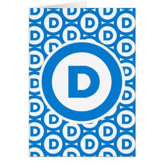 Democratic Party Logo Card