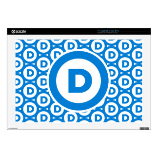 """Democratic Party Logo Decal For 17"""" Laptop"""