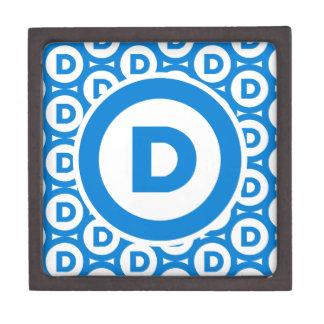 Democratic Party Logo Jewelry Box