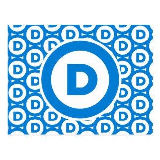Democratic Party Logo Postcard