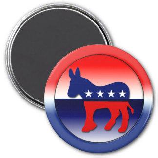 Democratic Party Symbol 3 Inch Round Magnet