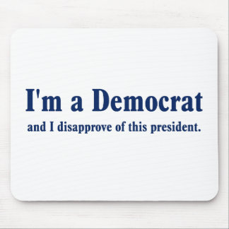 Democratic Presidential Approval Falling Mouse Pad