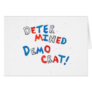 Democratic pride patriotic design for democrats card