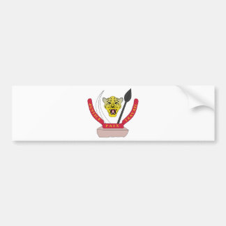 Democratic Republic of Congo coat of arms Bumper Sticker