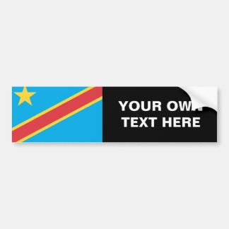 Democratic Republic of Congo Flag Bumper Sticker