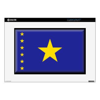 """Democratic Republic of Congo Flag 15"""" Laptop Skins"""