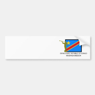 DEMOCRATIC REPUBLIC OF CONGO KINSHASA MISSION LDS BUMPER STICKER
