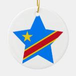 Democratic+Republic+of+Congo Star Christmas Tree Ornament