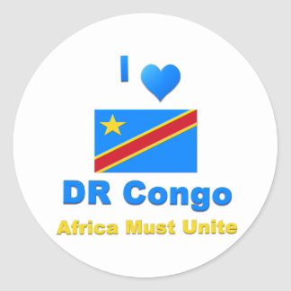Democratic Republic of the Congo Classic Round Sticker