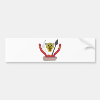 Democratic Republic of the Congo Coat of Arms Bumper Sticker